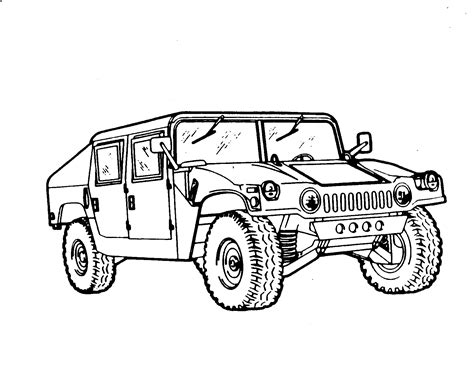 Military Truck Coloring Pages For Boys Military Best