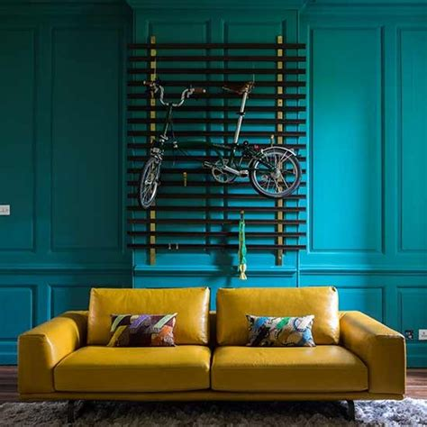 teal and mustard living room decorating with teal and
