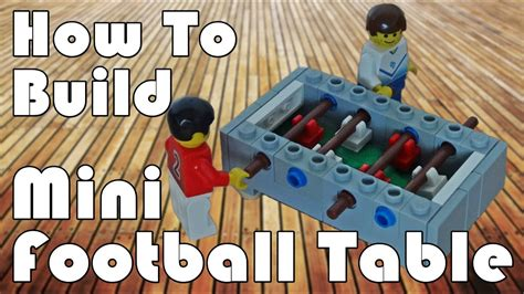 mini lego table how to build a lego mini football table
