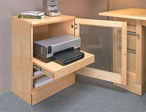 computer desk  printer cabinet woodworking plan