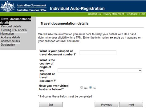ato tfn application form how to use the online tfn registration permanent