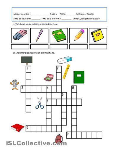 crucigrama espanol crucigrama