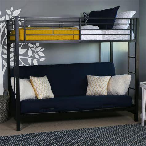 futon bunk bed amazon com walker edison futon metal bunk bed