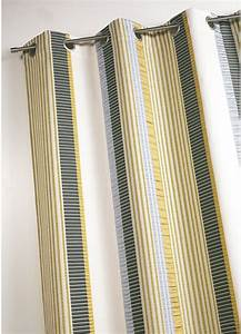 Rideaux Rayures Verticales : rideau en jacquard fantaisie rayures verticales bambou mandarine homemaison vente en ~ Teatrodelosmanantiales.com Idées de Décoration
