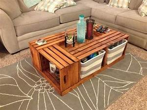1001 idees et tutos pour fabriquer un meuble en cagette for Tapis yoga avec canapé avec pouf intégré