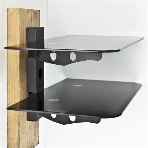 Tv Shelf For Cable Box by New Component Shelf 2 Tier Wall Mount Dvd Cable Box