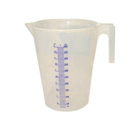 In Liter by Bon Tool 5 Liter Plastic Measuring Pitcher 22 369 The