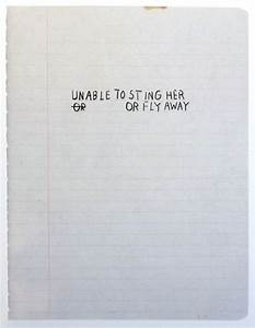 U0026quotunable To Sting Her Or Fly Awayu0026quot From The Notebook Of