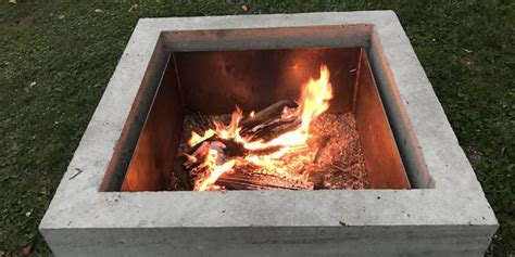 concrete fire pit diy project quikrete   easy ish