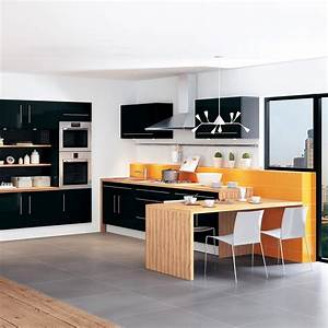 Cuisine Moderne Design : cuisine moderne design et color e leroy merlin photo 1 12 cette belle cuisine noire et ~ Preciouscoupons.com Idées de Décoration