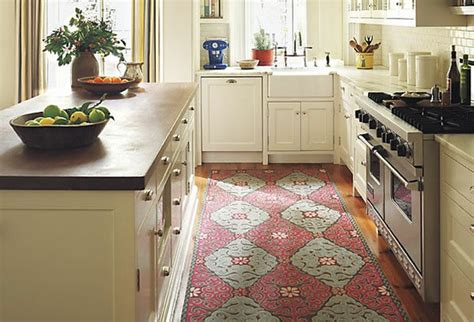 rug for kitchen sink area loft cottage an area rug in the kitchen where do you