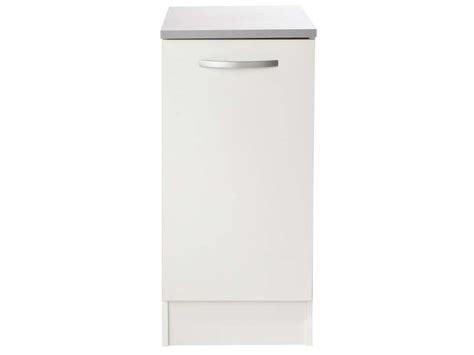 meuble cuisine bas 30 cm meuble bas 40 cm 1 porte spoon coloris blanc vente de meuble bas conforama