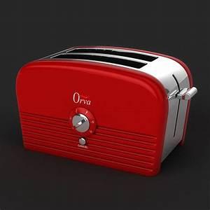 Toaster Retro Design : retro 1950 s toaster 3d max ~ Frokenaadalensverden.com Haus und Dekorationen