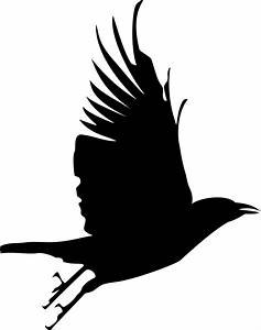 Flying Crow Silhouette Clip Art | Projects - GN ...