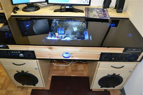 Pc Desk by Desk With Built In Pc