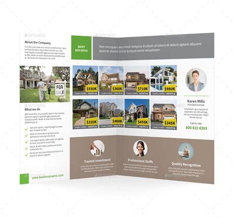 real estate bifold halffold brochure affiliate estate