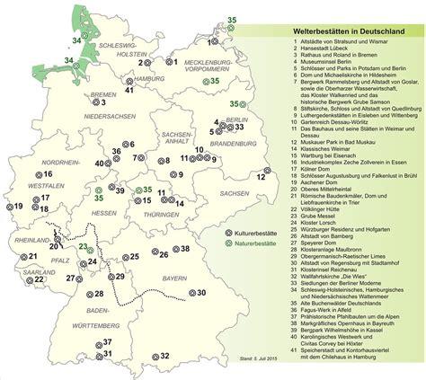Unesco Weltkulturerbe Deutschland Karte