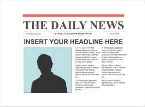 Basic Newspaper Template by Newspaper Header Template Best Template Idea
