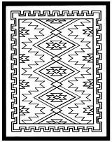 Coloring Rug Navajo Pages Southwest Native American Patterns Rugs Colouring Southwestern Pattern Quilts Designs Indian Clipart Adult Stephanie Posted Am sketch template
