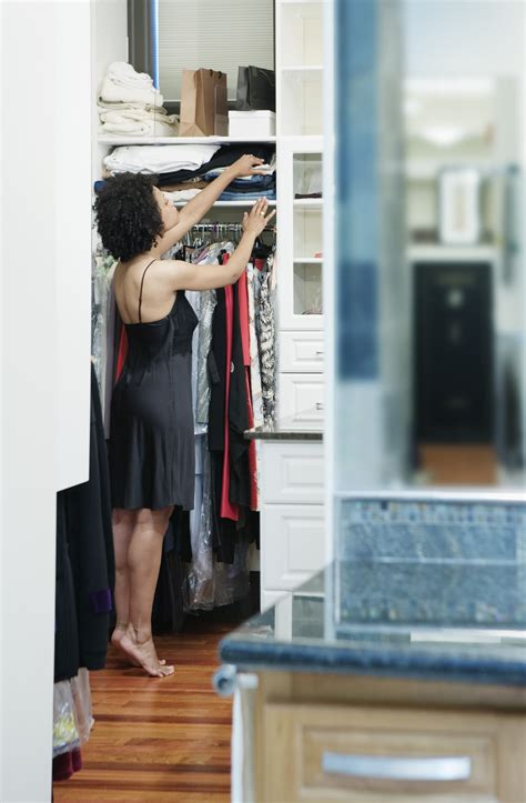 a walk in closet you can see yourself in