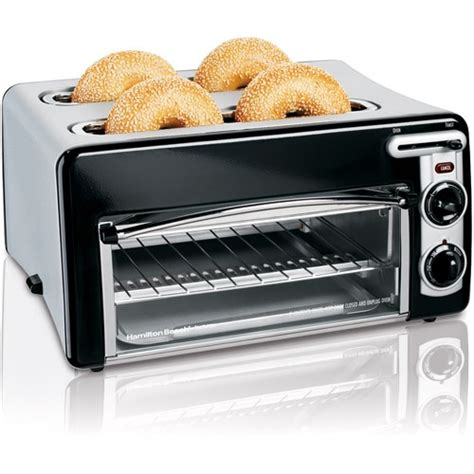 4 Slice Toaster And Toaster Oven Combo by Hamilton Toastation 4 Slice Toaster Oven