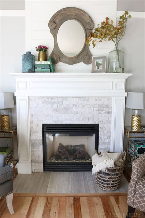 simple fall mantel  inspired room fall decorating
