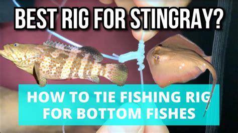 fishing rig bottom feeder stingray snood tie