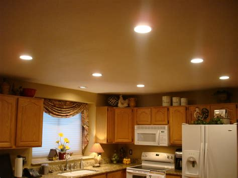 Lovely Small Kitchen Ceiling Light Above Big Wooden