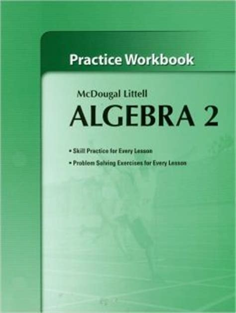 Holt Mcdougal Larson Algebra 2 Practice Workbook  Edition 1 By Houghton Mifflin Harcourt