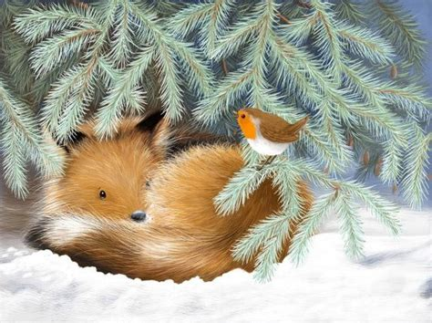 Item Reduced Clearance Christmas Cards Fox Cub