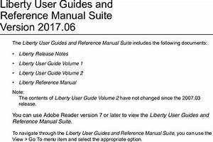 Liberty User Guides And Reference Manual Suite Version 2017 06