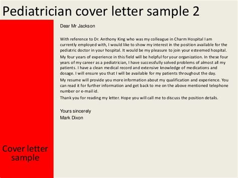 resume for doctors pediatrician pediatrician cover letter