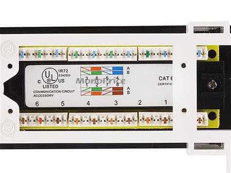 Monoprice Port Vertical Cat Mini Patch Panel Type