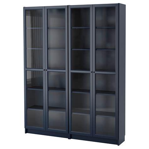 ikea com billy bookcase billy oxberg bookcase dark blue 160x202x30 cm ikea
