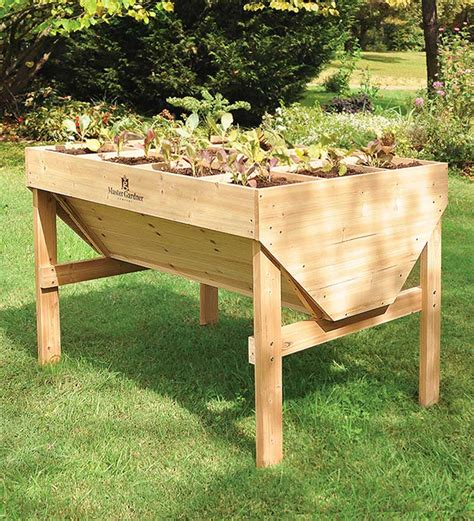 raised garden table luxury home design furniture bedside table