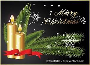 Christmas golden Christmas and holiday season candles ...