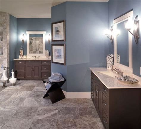Blue Bathroom Paint Colors by Trust Our Instinct Steel Blue Bathroom Paint Color