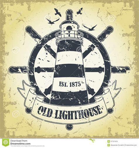 Stamp With A Nautical Theme Royalty Free Stock Photo