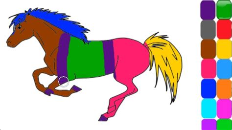 gambar pelangi una mewarnai kuda poni buat suka memwarnai