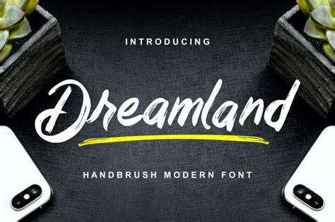 dreamland handbrush modern font  ianmikraz studio