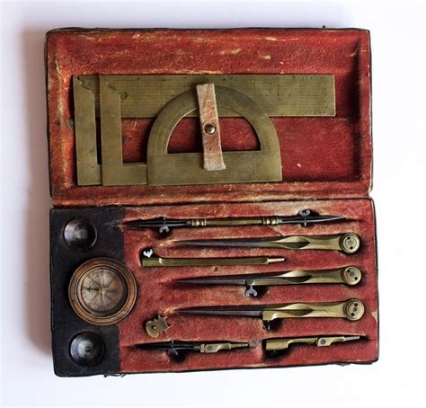 century german drafting set instruments outils