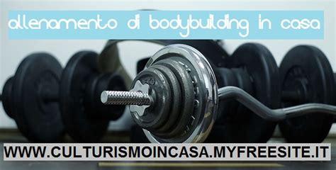 Bodybuilding A Casa by Esercizi Bodybuilding In Casa