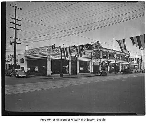 pre war 1930s Ford Dealership Buildings ..   Old Car