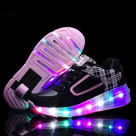led light shoes for kid new 2016 child wheely 39 s jazzy led light roller skate shoes