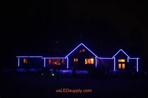 led rope lights on house roselawnlutheran