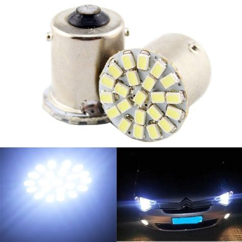 10 pcs lada de re luz placa 22 leds 1156 p21w 67 branca 1 polo in car headlight bulbs led