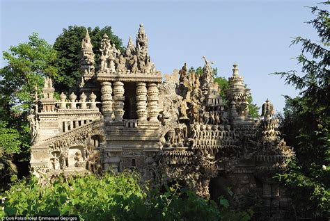 postman ferdinand cheval spent 33 years building le palais id 233 al from pebbles daily mail