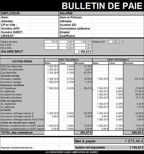 fiche de paie cadre excel 28 images modele bulletin de paie excel maroc document paie 2017