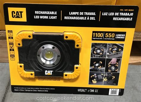 cat rechargeable work light cat rechargeable led work light costco weekender