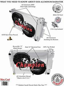 Bbc Camaro High Performance Radiator Bundle  Radiator